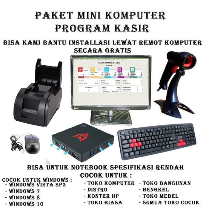 Promo Paket Lengkap Mini PC Program Software aplikasi kasir bengkel konter Berkualitas