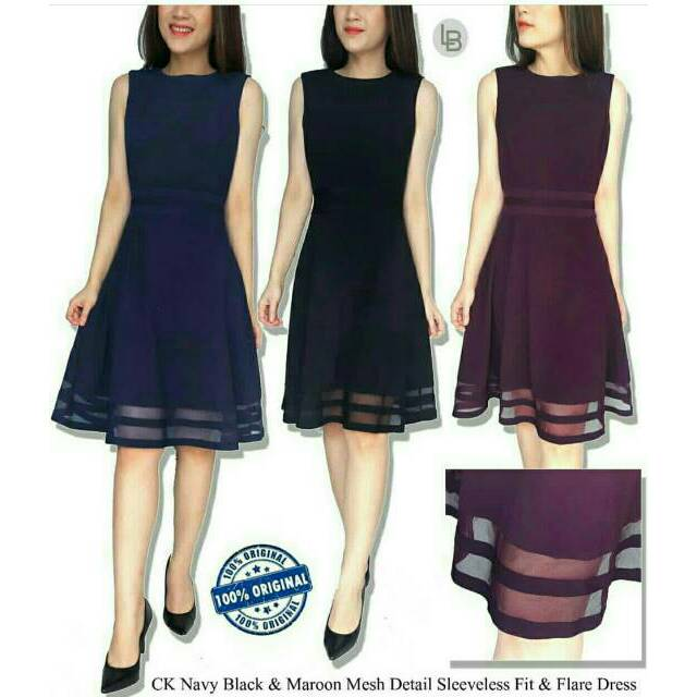 780047df Calvin klein branded original ilussion fit and flare dress | Shopee  Indonesia