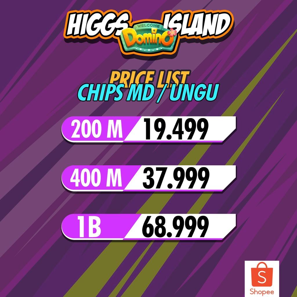 200M - 1B CHIP/KOIN MD UNGU - HIGGS DOMINO ISLAND | AGEN RESMI | MURAH