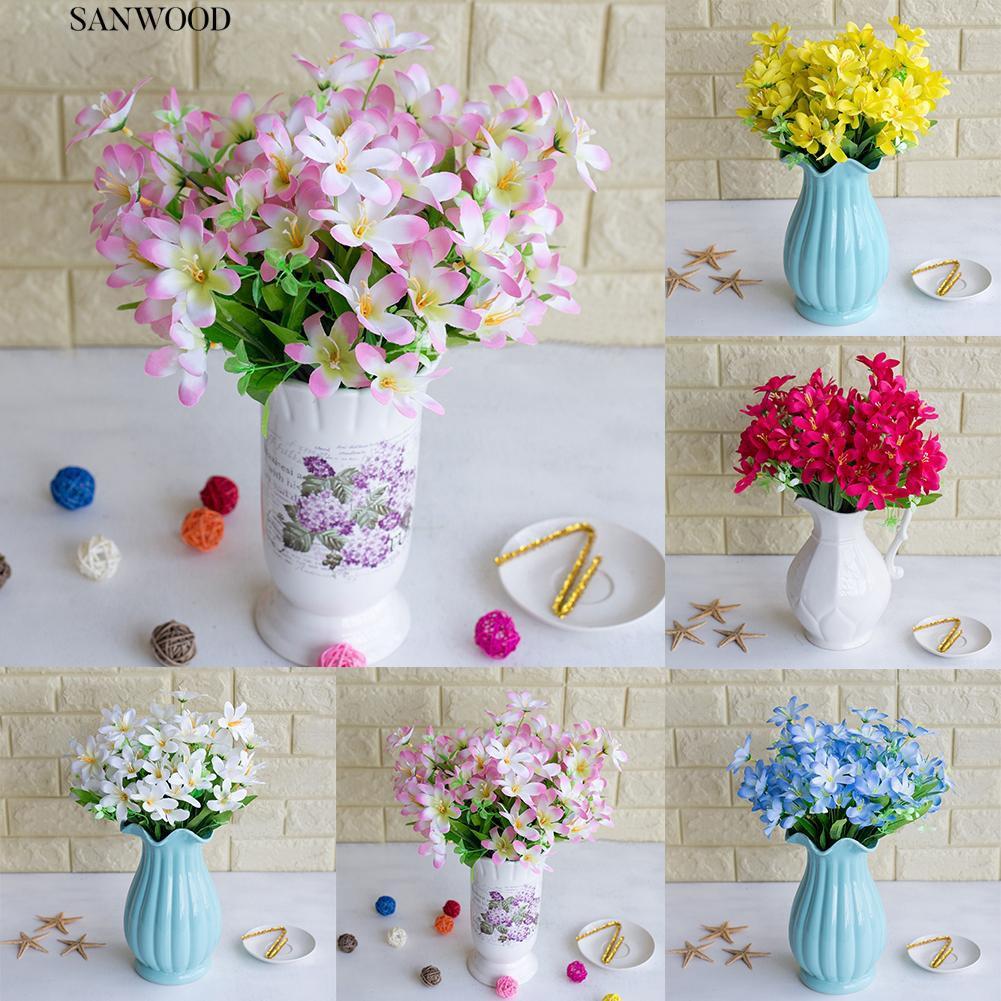 6 Cabang 1 Pc Buatan Bunga Narsis Simulasi Kantor Dekorasi