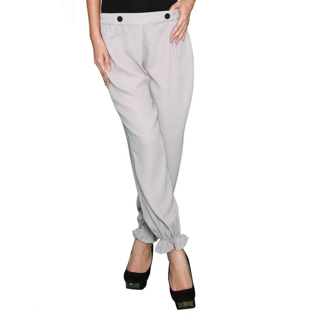 Celana Panjang Jogger Wanita Light Blue Hareem Pants Standart Murah Shopee Indonesia