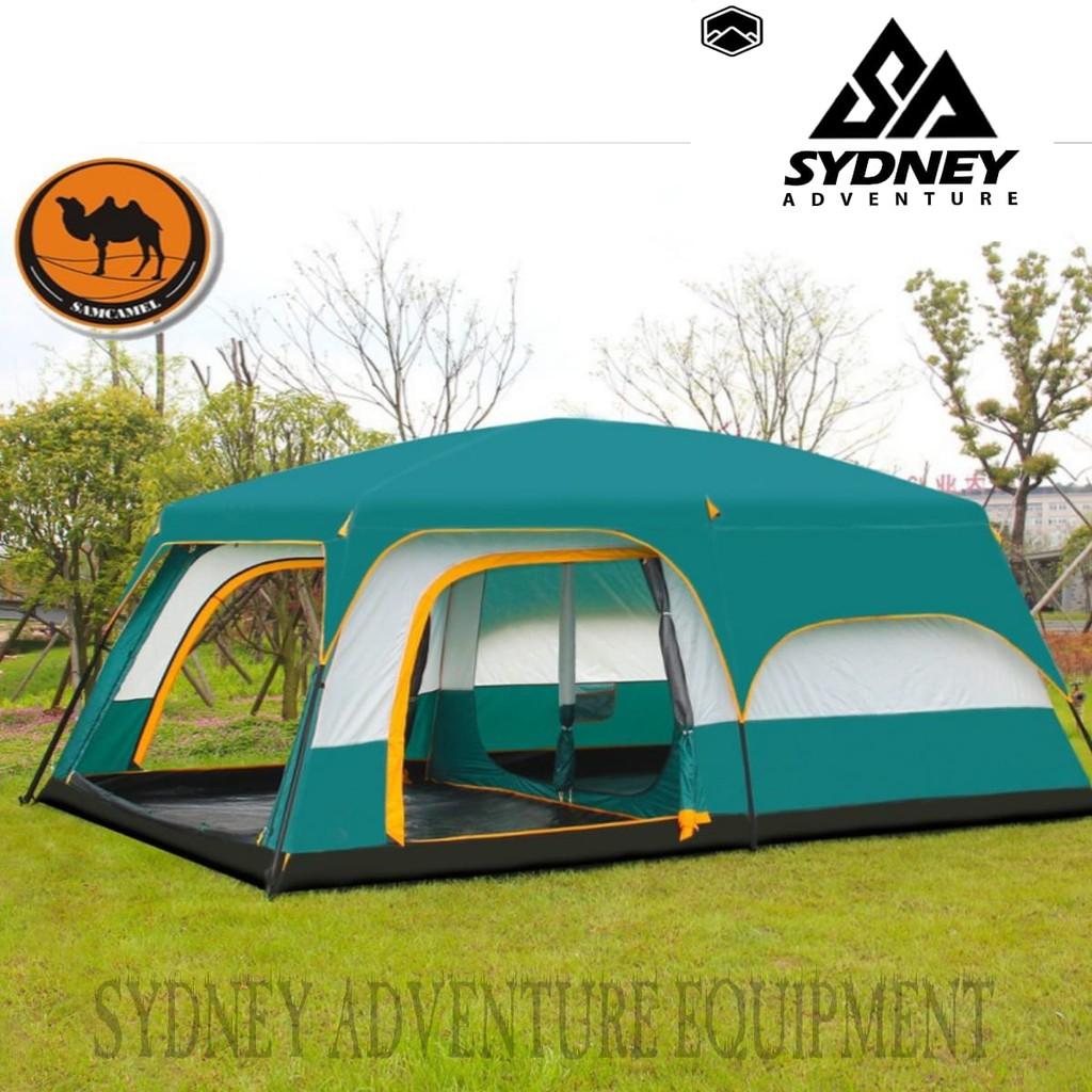 Tenda Camping Family Camel Kapasitas 10 12 Person Double Layer Shopee Indonesia
