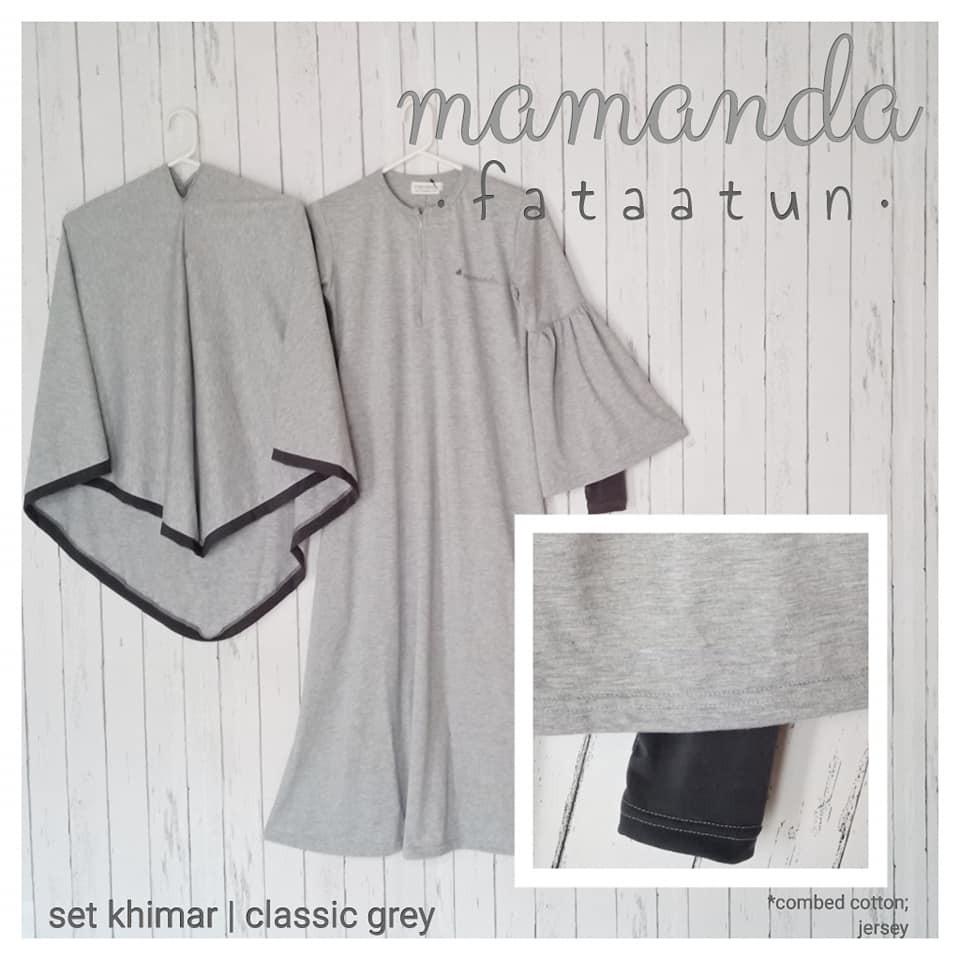 Gamis Remaja/Dewasa Classic Grey by Mamanda