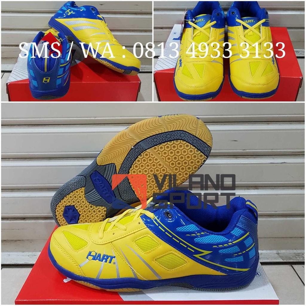 Sepatu Badminton Hart Hs 703 Yell Blue Shopee Indonesia Bulutangkis 303