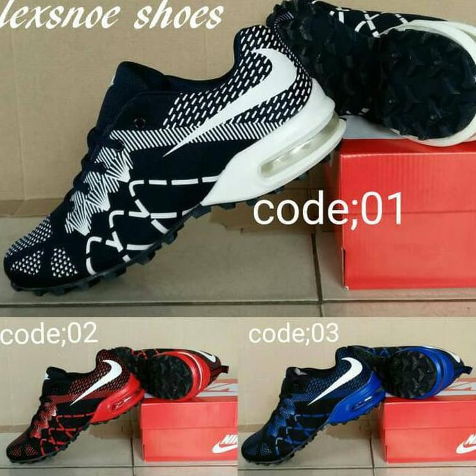 best service 98b2a bf9d1 Sepatu Nike Airmax Flyknit Running Terbaru - Merah, 40