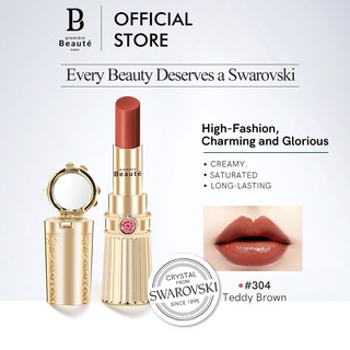Premiere Beaute Swarovski Moisturizing & Long-Lasting Crystal Lipstik-Teddy Brown304 thumbnail
