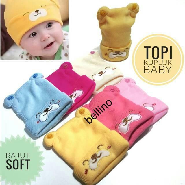 Topi kupluk bayi telinga kucing rajut keren korea baby beanie hat ... bd52cfe8a9