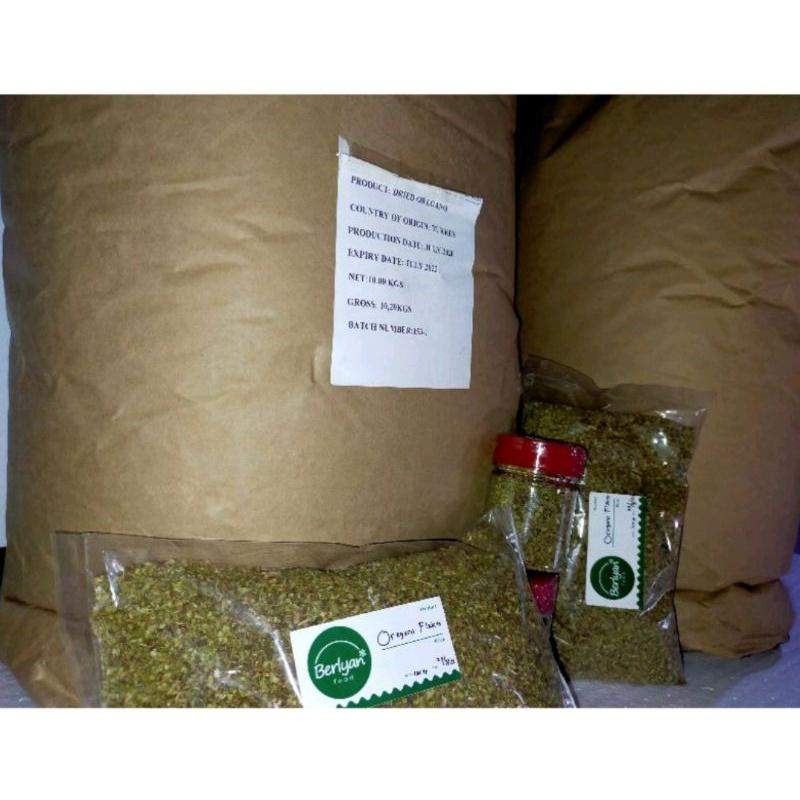 Oregano Flakes 1 kg Herbs Grosir Termurah Free Bubble Wrab dan Dus Packing Aman