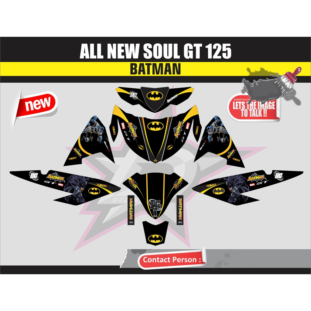 Decal stiker all new soul gt 125 army shopee indonesia