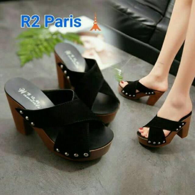 New arrival sepatu sendal high heels wanita branded impor Batam merek  Lincon kode BS2819 promo  cdca36b1e8