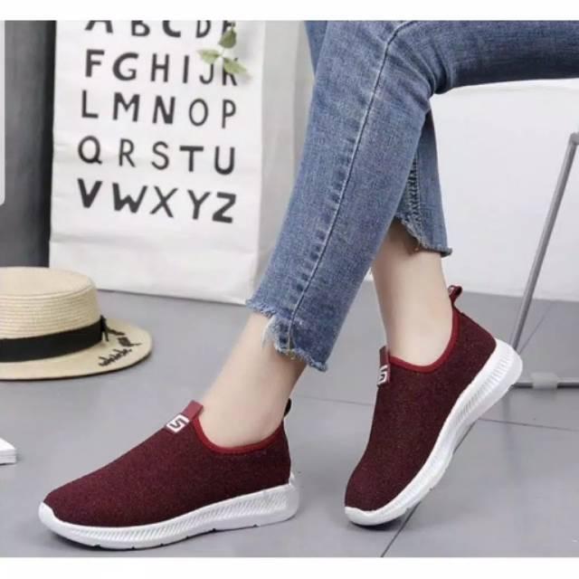 Sepatu Wanita Jf02 Sneakers Logo S Shopee Indonesia
