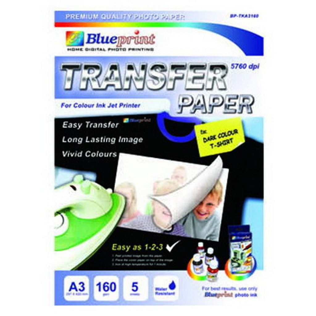 Kertas Print Kaos Putih Paper Blueprint Transfer White Shopee Foto Fuji Silky Indonesia