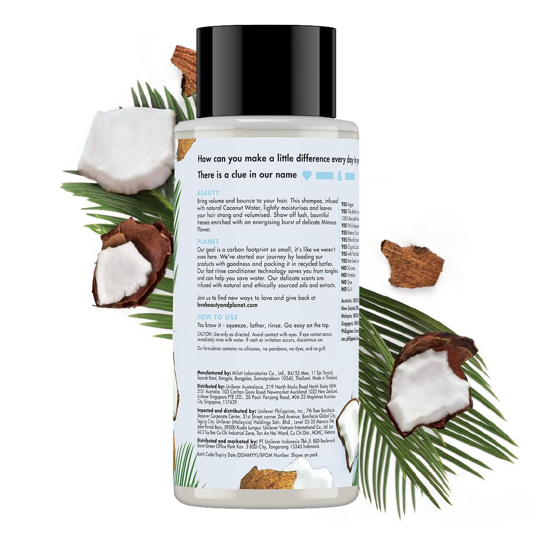 Love Beauty And Planet Shampoo Coconut Water & Mimosa Flower 400 Ml - Perawatan Rambut Lepek-2