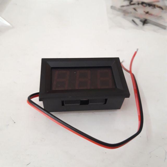 Voltmeter Digital Lengkap plus Frame 4.5-30V Merah DC 2