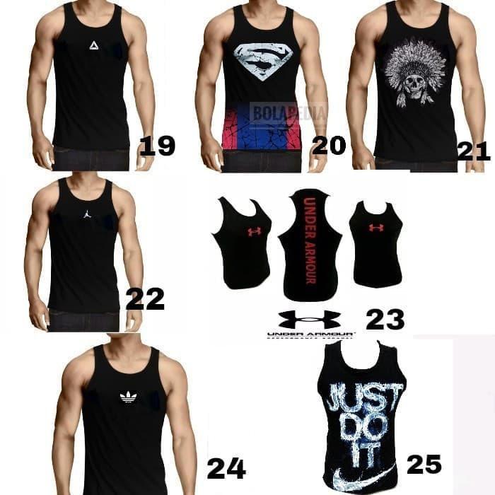 New Baju Kaos Reebok Pria Ufc Mma Gym Fitnes Lari Renang Sepeda Dry Fit  Terbaru  a93fec83b1