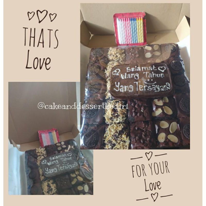 Brownies Panggang / Gift Brownies/ Kue Ulang tahun