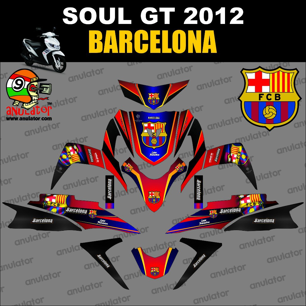Best sticker striping motor stiker yamaha mio soul gt barcelona spec b dgi shopee indonesia