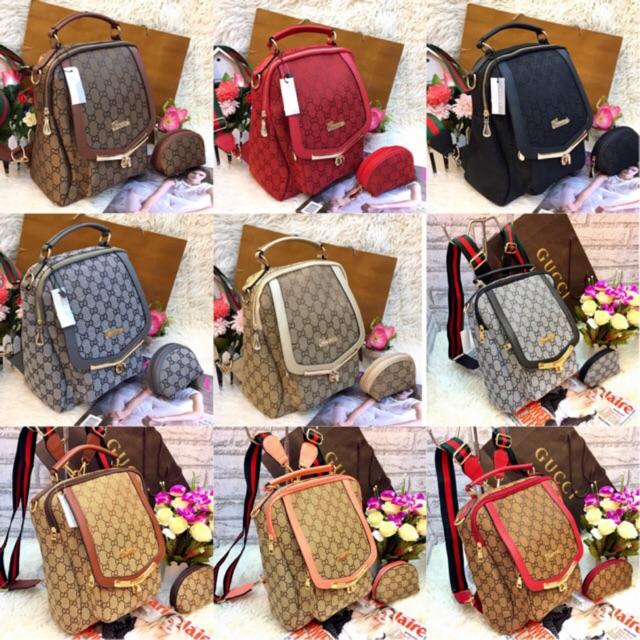 Tas Gucci Ransel Backpack Multifungsi Benzo FREE POUCH !! TERMURAH ... cd658650b6