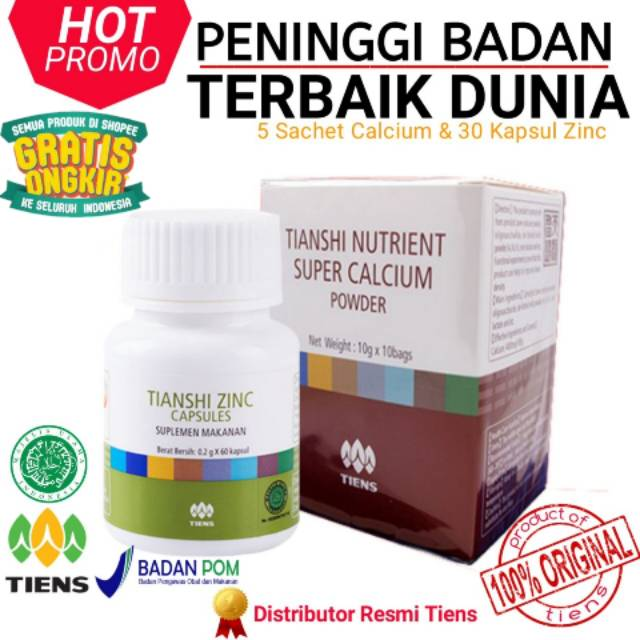 Tiens Peninggi Badan 30 hari Peninggi Tianshi 3 NHCP Kalsium 2 Zinc Ori 100% Segel Naik sampai 10 cm | Shopee Indonesia