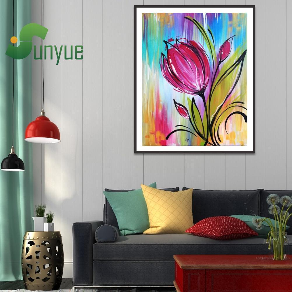 Lukisan Diamond 5D DIY Gambar Bunga Untuk Dekorasi Rumah
