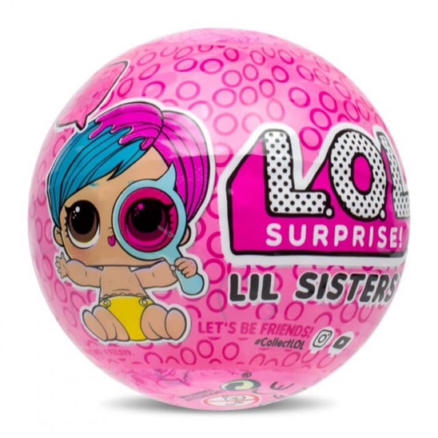 LOL SURPRISE DOLLS LIL SISTERS SERIES 2 LIL IT BABY Brown Hair  Beige Napping