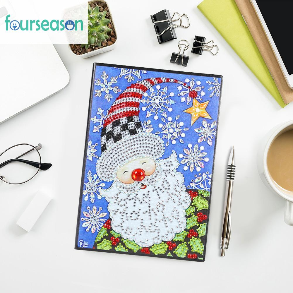 Ready Diy Santa Claus Special Shaped Diamond Painting 60 Pages A5