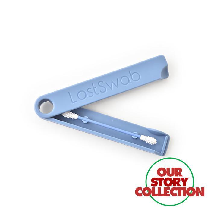 Pick Reusable Cotton Swab / Eco Friendly Cotton Bud Pembersih Telinga - Blue