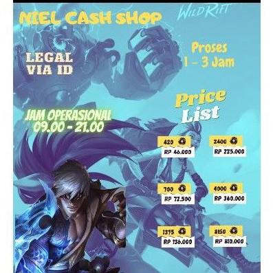 Top Up Wild Core LOL Wild Rift MURAH - Wildcore WC League Of  Legends Wild Rift MURAH LEGAL 100%