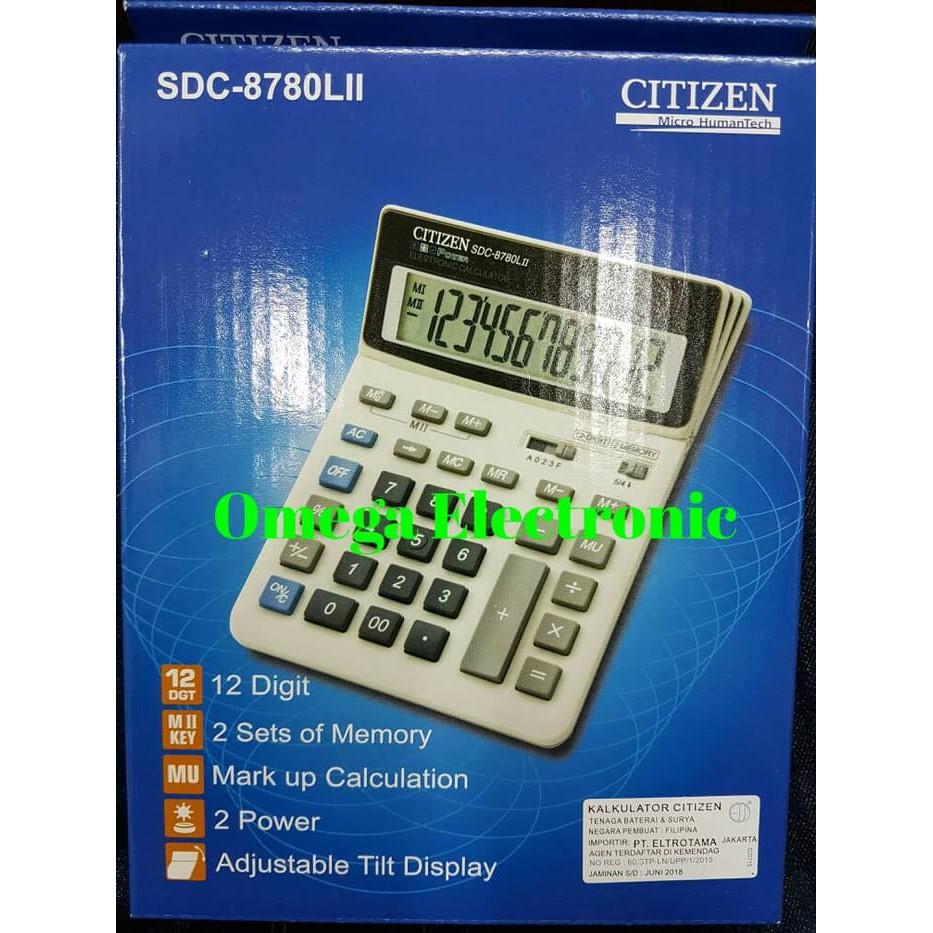 Baru Original Citizen Calculator Sdc-664S - Kalkulator Meja Office Kantor Readystock   Shopee Indonesia