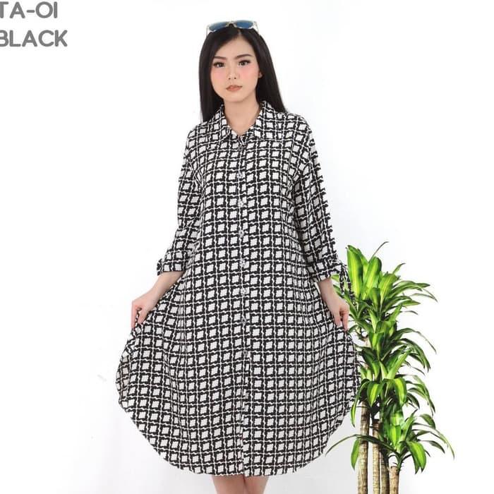 Grosir Baju Murah/Jual Dress Murah/Terbaru/CAREY TUNIK BLACK PR001 | Shopee Indonesia