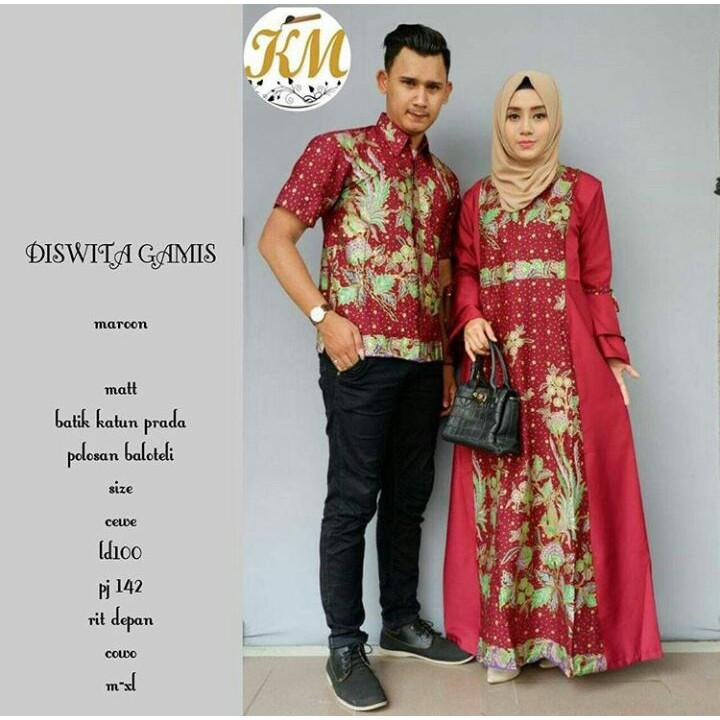 Sarimbit Batik Baju Suami Istri Batik Pasangan  197ed17d07