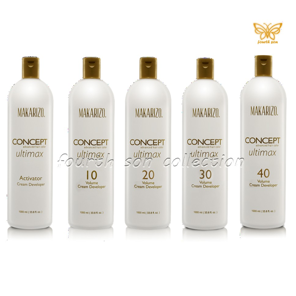 Makarizo Concept Ultimax Cream Developer 200 Ml Oxydant Share In Professional Mk3 Refresh Rebonding Hair Repair