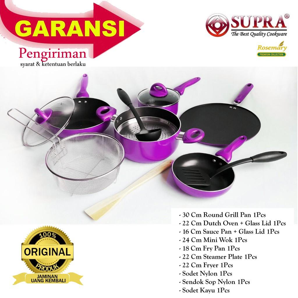 13b85a781f06 SUPRA Panci Teflon Set Cookware Rosemary 7Pcs