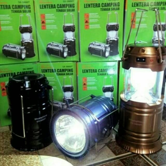 KiozOrenz Lampu Camping Mini Lentera Tarik Senter Emergency + Solar Cell + Powerbank Solarcell 400gr | Shopee Indonesia