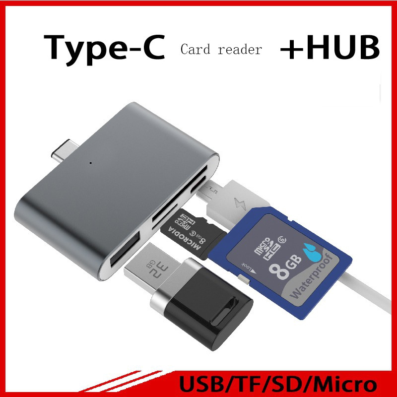 Multi-function Card Reader SD Card TF Triplet OTG Smart Adapter For PC Macbook