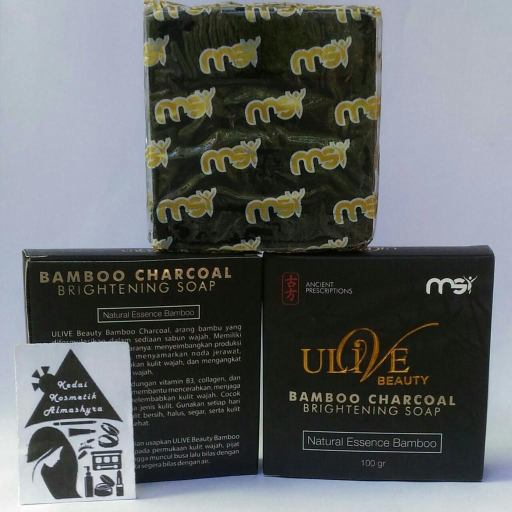 Msi Bamboo Charcoal Brightening Soap Sabun Arang Bambu Shopee Indonesia