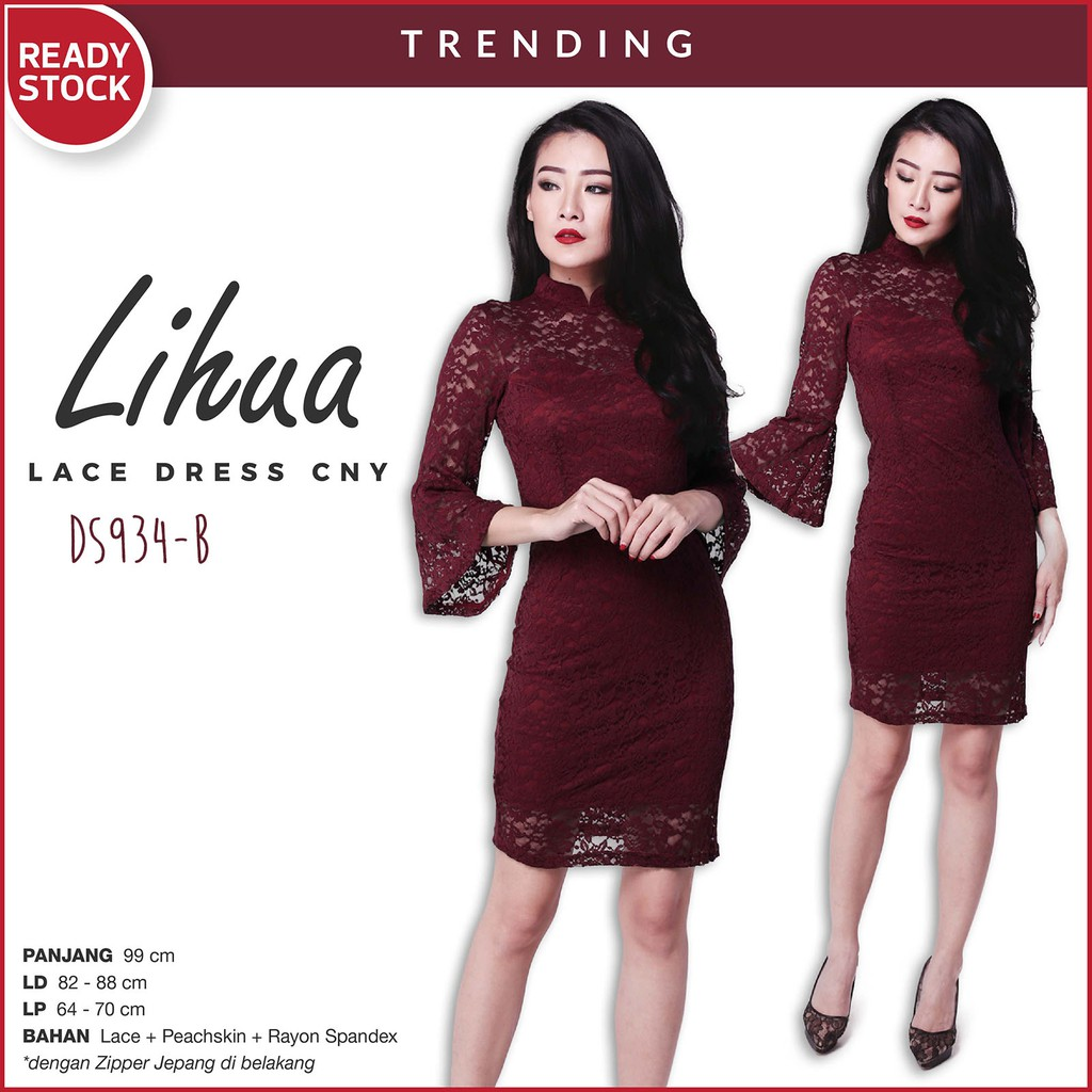 Meili Basic Cheongsam Dress Cny Chinese New Year Imlek Ds878 Pistachio Sabrina Gaun Flare Pakaian Wanita Ds885 Shopee Indonesia