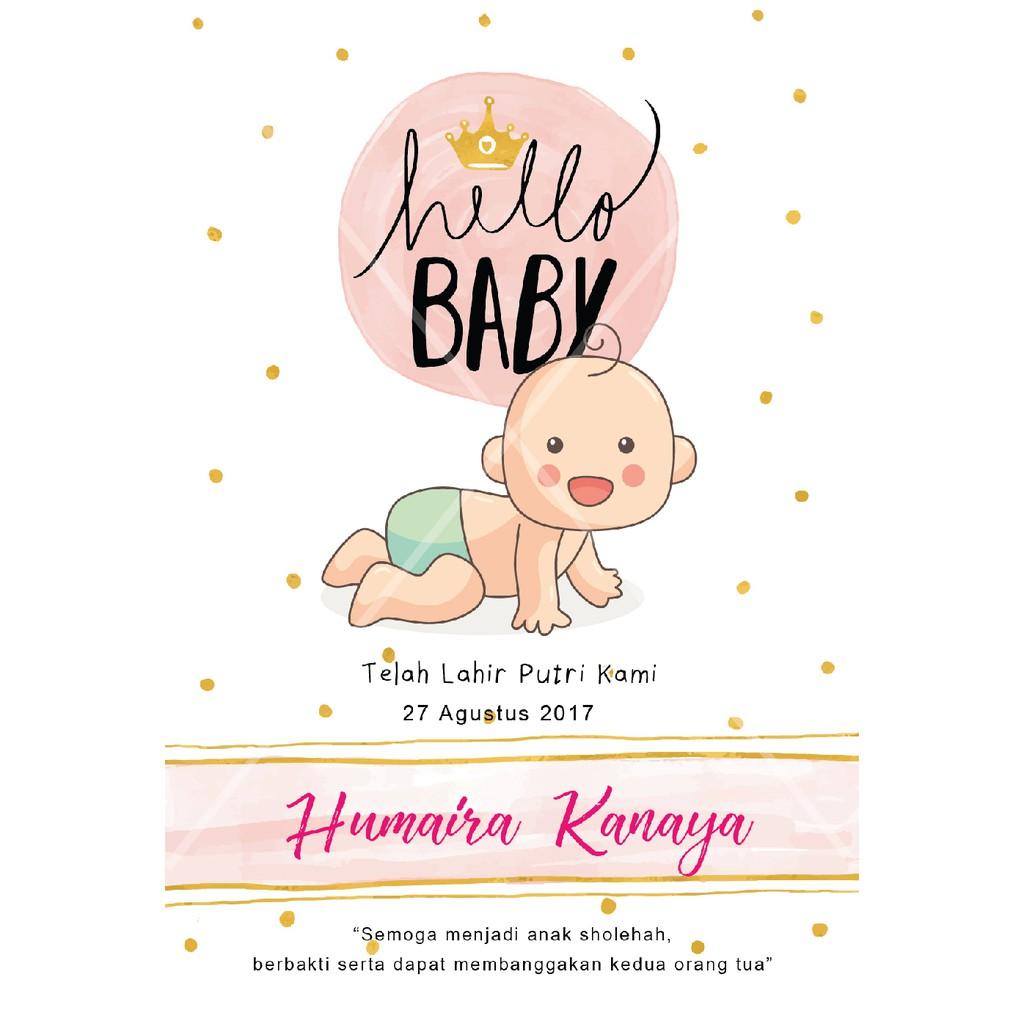 Kartu Ucapan Kelahiran Bayi Undangan Aqiqah Baby Shower