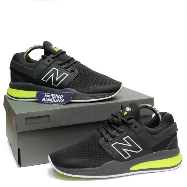 Sneakers New Balance 247 Tritium Pack Grey Neon White Premium (Free tas sepatu)