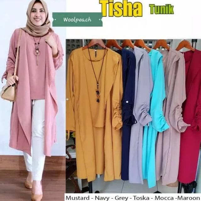 Dijual Tunik cantik polos terbaru alana top Baju atasan wanita simple  casual Berkualitas  706bde977a