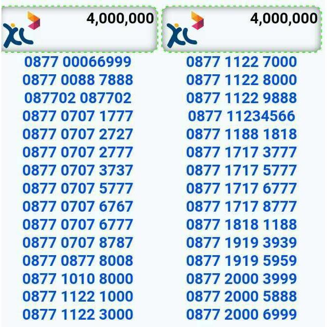 XL AXIATA NOMOR CANTIK 0877 8989 6888. nomor xl - Temukan Harga dan Penawaran Kartu