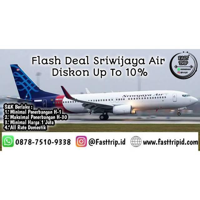 Tiket Pesawat Sriwijaya Air Nam Air Diskon 10 Shopee Indonesia