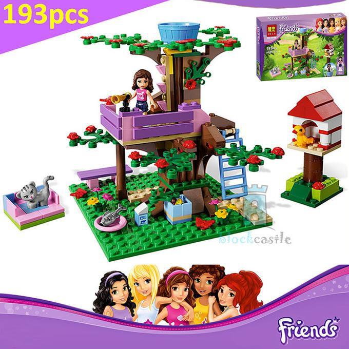 New Collection Bela 10158 Girls Olivia Tree House Building Blocks