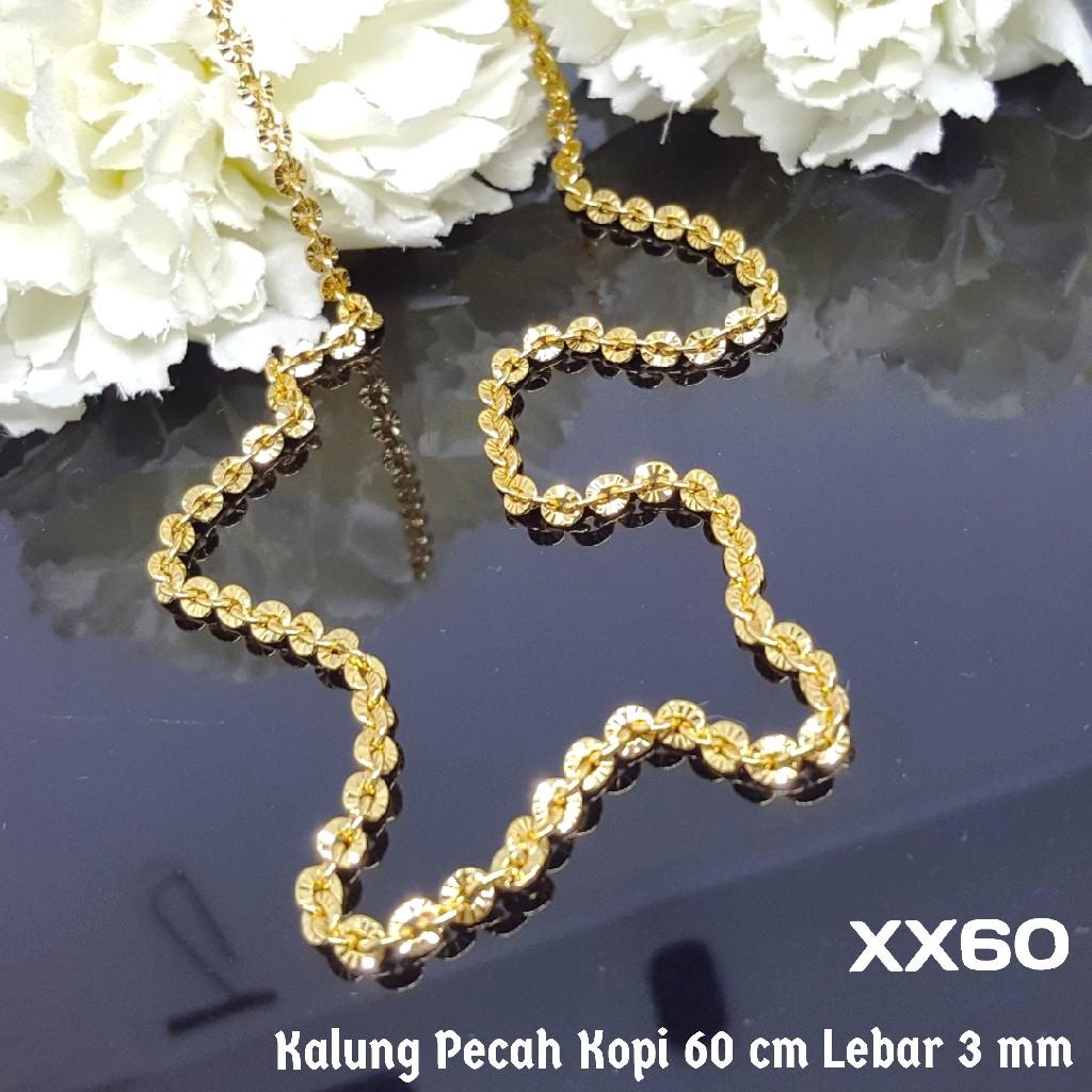 Kalung lapis emas putih Rantai pecah kopi Perhiasan imitasi Yaxiya 419   Shopee Indonesia