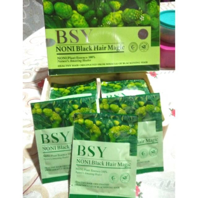 BSY NONI BLACK HAIR MAGIC BPOM HALAL ORIGINAL HARGA PER SACHET | Shopee Indonesia