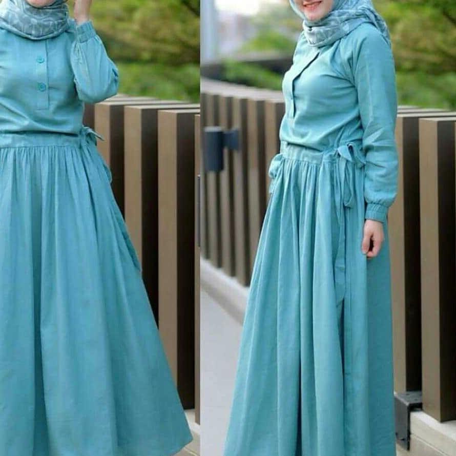 SADIRA DRESS Baju Gamis Terbaru 2020 Gamis Wanita Muslim Wanita Elegant Trendy Gamis Simple