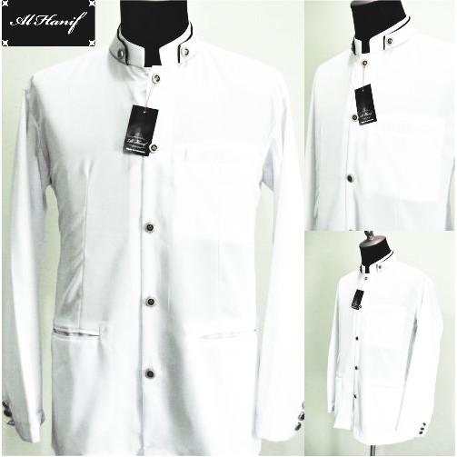 DISKON Jasko Jas Koko Al Hanif (Baju Koko) Putih Kuliah muslim / spesial lebaran   Shopee Indonesia