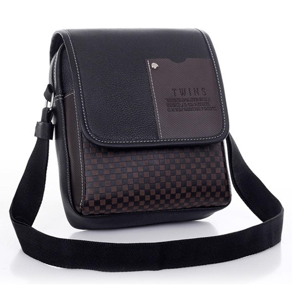 Tas Selempang Kanvas Pria / Sling Bag / Tas Pria (Khaki) | Shopee Indonesia