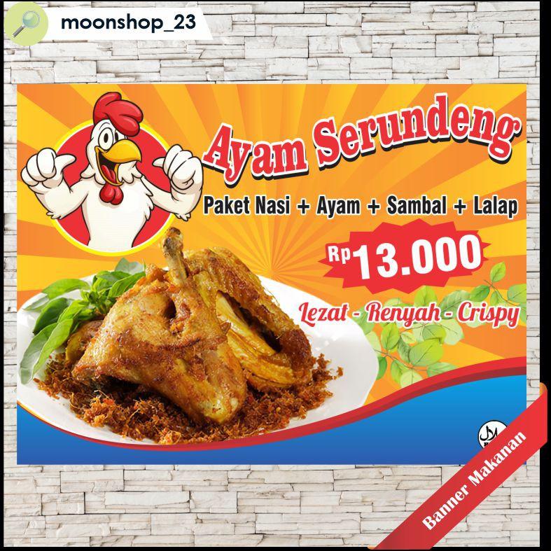 Spanduk Banner Backdrop Toko Makanan Minuman Custom Shopee Indonesia