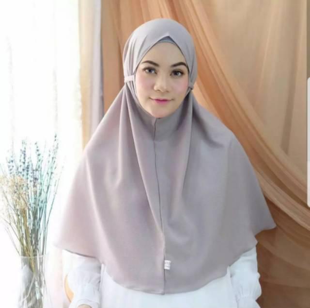 Hijab Bergo Maryam Jilbab Hits Cantik Diamond Tali Samping Elegant Murah Shopee Indonesia